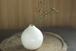 白い陶器の一輪挿し(鎬)
