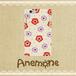 18機種対応 Anemone×Red インド綿プリント調スマホカバー