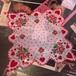 heart rose vintage ハンカチーフ
