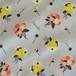 < pom pom bouquet >  リネンコットンキャンバス生地 45cm x 137cm