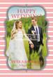 ご結婚祝い用ポスター_2 ストライプ柄 縦長 3色バリエーション A3サイズ