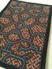 アマゾンの泥染め手刺繍カフェマット3青