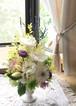 プリザーブドフラワー輪菊の仏花(白)