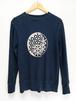 indigo swaet shirt (麻炭入りプリント)