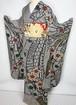 総絞り 帯セット 金駒刺繍 振袖 京鹿の子絞り 正絹 黒 白 赤 緑 026