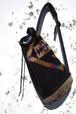[Pendleton] USA製 ネイティブ柄 スエードボトム ワンショルダーバッグ ブラック ペンドルトン