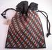 カマクラフト手刺繍巾着(大)白・煉瓦・緑