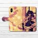 #037-003 手帳型iPhoneケース 手帳型スマホケース 全機種対応 iPhoneX 女の子 かわいい 人気 アニメ柄 Xperia iPhone5/6/6s/7/8 ARROWS AQUOS Galaxy HUAWEI Zenfone タイトル:天使と花束 作:プルーミィグッズ