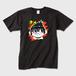 りんのどんびきTシャツ かわいいキャラTシャツ 黒 ※トナー熱転写