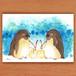 ペンギンと線香花火【ポストカード】