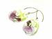 山野草 森の花のピアス E (ヤエベニシダレザクラ・ウリハダカエデ)14kgf《イヤリング可》