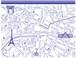 Paris Map パリマップ ブルー A4 コル・カロリオリジナル転写紙