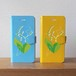 【S/Msize】幸福の花・鈴蘭と猫の手帳型スマホケース #iPhoneX対応