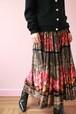 floral flare long skirt