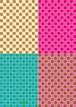 ■リリース記念4種類set A4用紙 025-028【Tile】5枚×4種 1500円