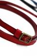 グラースオリジナル二重巻レザーベルト帯〆 赤