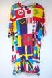 KTZ MULTI FLAG PRINT APRON T-SHIRT マルチ フラッグ プリント エプロン Tシャツ / MULTI 50%OFF