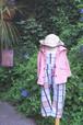 【30%off!】¥10584→¥7408  kids サロペットパンツ★オリジナルテキスタイルがかわいい カラ−2色