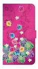 【鏡付き Lサイズ】Tropical Pink トロピカル・ピンク 手帳型スマホケース