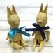 【Atelier soleil*】お座り木彫りうさぎ/木彫り人形