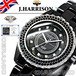 【J.HARRISON】JH-012BK オールセラミック天然ダイヤモンド付・電池式腕時計