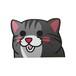 アメリカンショートヘア(小)     猫ステッカー