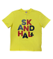 【SKANDHAL】BIG LOGO Tシャツ【イエロー】【新作】イタリアンウェア【送料無料】《M&W》