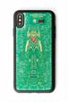 FLASH EVA01 iPhone XS Maxケース 緑【東京回路線図A5クリアファイルをプレゼント】