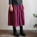 リネンギャザースカート(+10cm丈) YAMMA ヤンマ産業