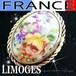 LIMOGES FRANCE★美しい手描きのお花 リモージュ焼 ヴィンテージ陶器ブローチ
