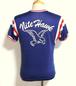 1950's Russell Southern トリコロールレーヨンアスレチックTシャツ フロッキープリント 表記(M) ラッセル