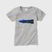 レディースTシャツ カナダ・ユーコン川 グレー