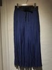 85cm丈ギャザープリーツロングスカート   ネイビー