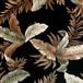 PORT OKINAWA HAWAIIAN FABRIC ポートオキナワ ハワイアン 生地 切り売り ブラックリーフ