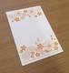 活版お花1色ポストカード(atelier703)