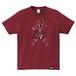 Japanesque Tシャツ(バーガンディー)