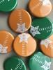 ミニカワ缶バッジ二個セット(グリーン&オレンジ)