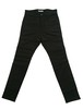 CREASE  STRECH TROUSERS  -BLACK-