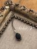 【宝石質】サファイヤのワイヤーラッピングのペンダント