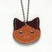 【送料無料】猫の本革迷子札 CT105