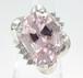 【SOLD OUT】クンツァイト ダイヤリング プラチナ 9.56ct 0.19ct ~【With simple identification document】Kunzite diamond ring Platinum 9.56ct 0.19ct~