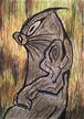 ラーテルさん(あなぐまハチロー)「モグラ面の肖像」