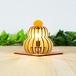 「鏡餅」木製フロアランプ