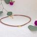 絹組紐ショートネックレス(smoky pink•mocha)
