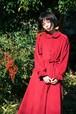 赤い木の実のコーデュロイワンピース