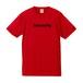 intensity ドライシルキーTシャツ(レッド×ブラック)