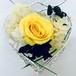 Fran flower★高級プリザーブドローズ「Yellow heart」