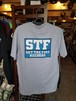 STF T-shirts Gray × logo
