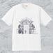 豪華すぎる非常口T*メンズホワイト/面白デザイン【色鉛筆アートTシャツ】