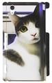 スマホケース Xperia Z2 振り向き猫